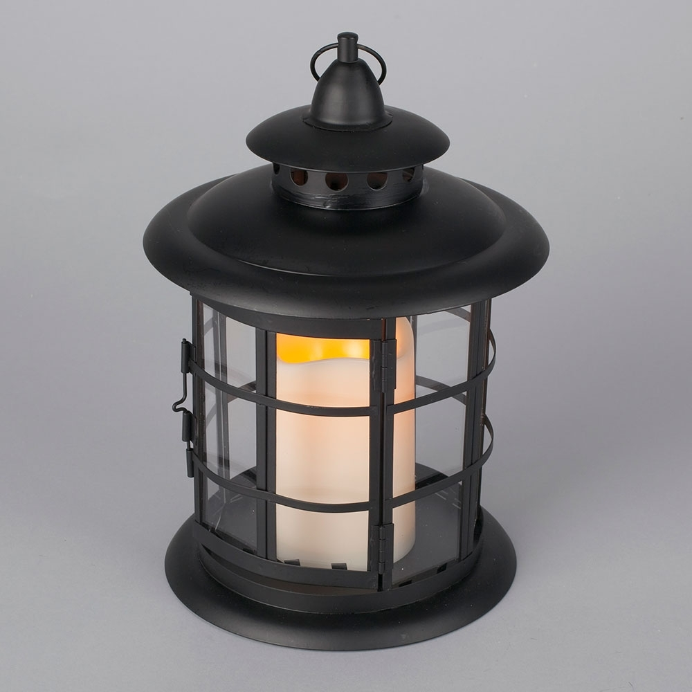 Resin Outdoor Lanterns In Most Recently Released Led Metal & Resin Battery Operated Flameless Candle Lantern (View 7 of 20)