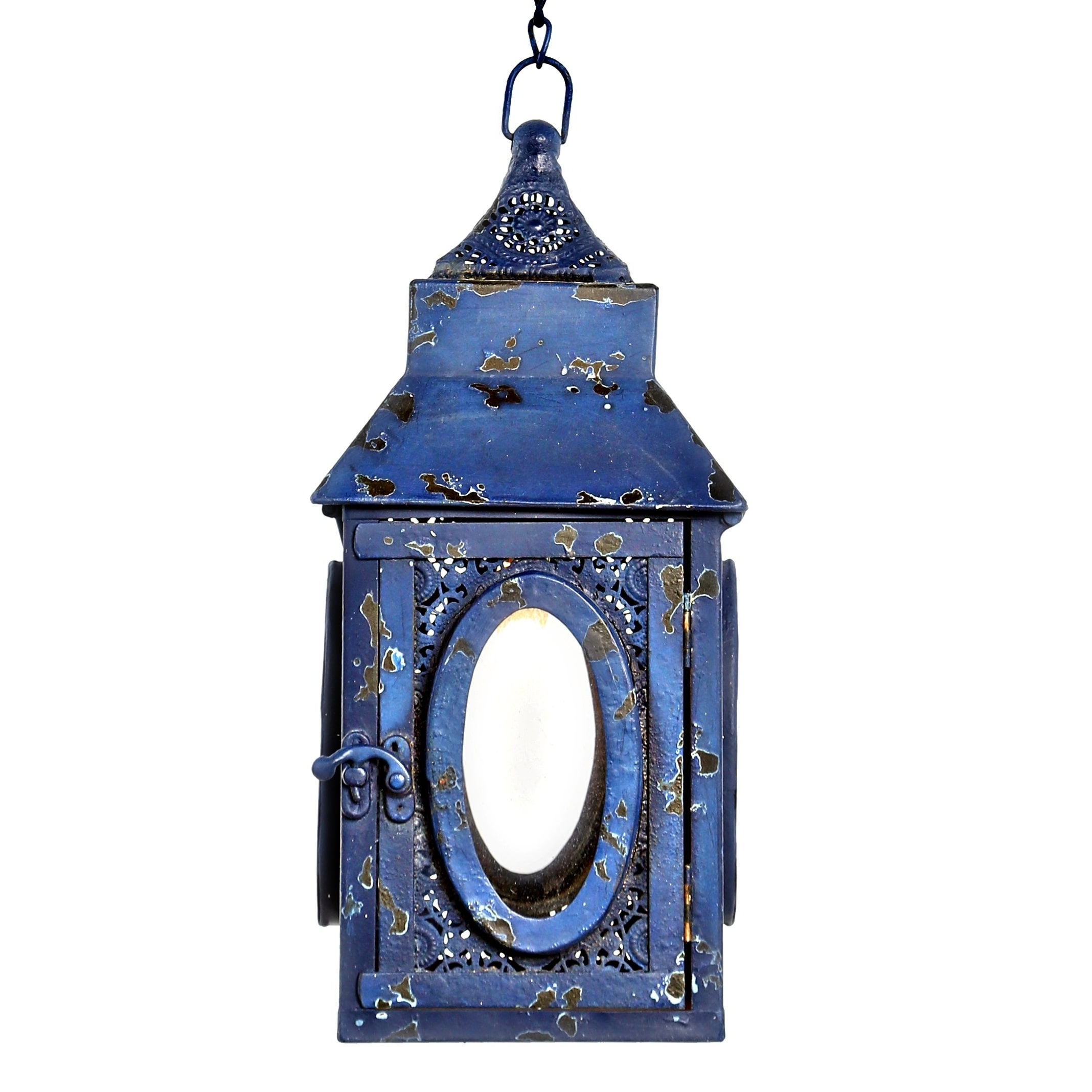"River Of Goods 12""h Punched Metal Lace Cordless Led Outdoor Lantern In Well Known Led Outdoor Lanterns (View 18 of 20)"