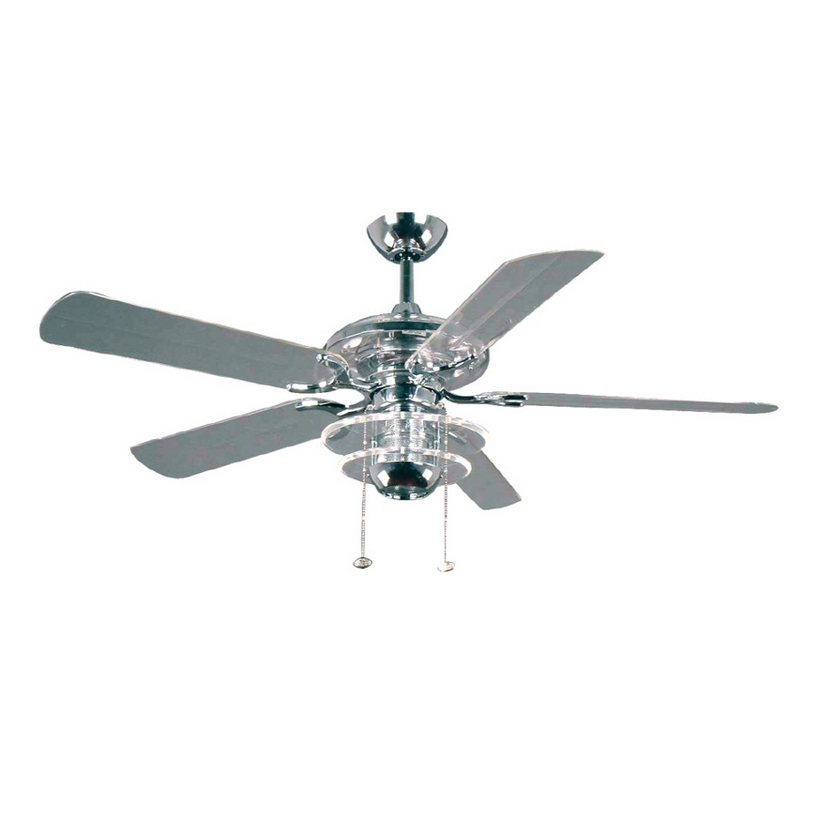 Rust Proof Outdoor Ceiling Fans Intended For Well Known Modern Patio Ideas With Clear Acrylic Blades, And Bright Chrome (View 4 of 20)
