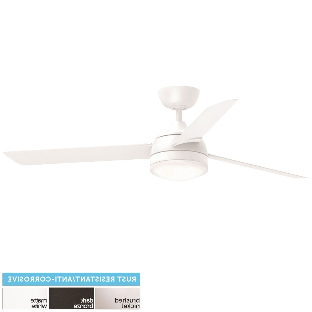 "Rust Proof Outdoor Ceiling Fans With Regard To Popular Fanimation Fp6729 Xeno Wet Led Indoor / Outdoor 56"" Ceiling Fan (View 10 of 20)"