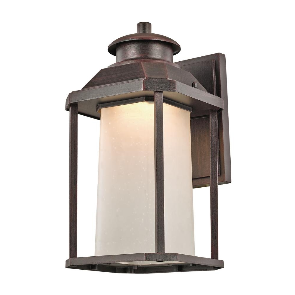 Rust Proof Outdoor Lanterns With Regard To Trendy Bel Air Lighting Southfield 20 Watt Rust Outdoor Integrated Led Wall (View 8 of 20)