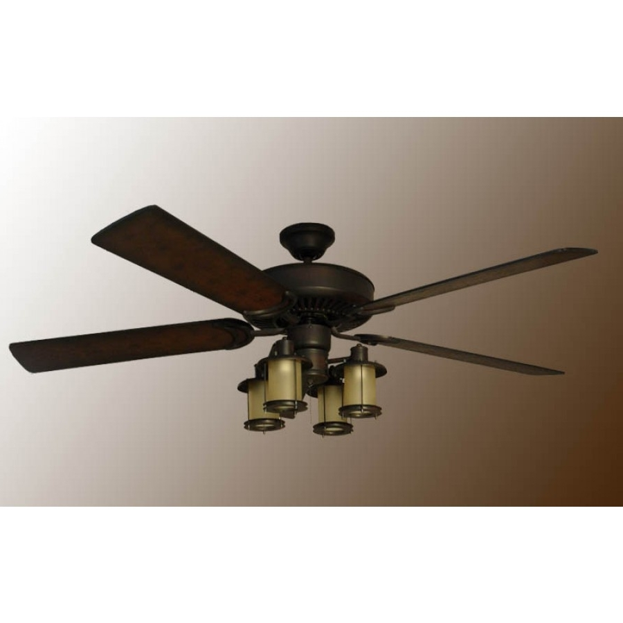 Featured Photo of Mission Style Outdoor Ceiling Fans With Lights