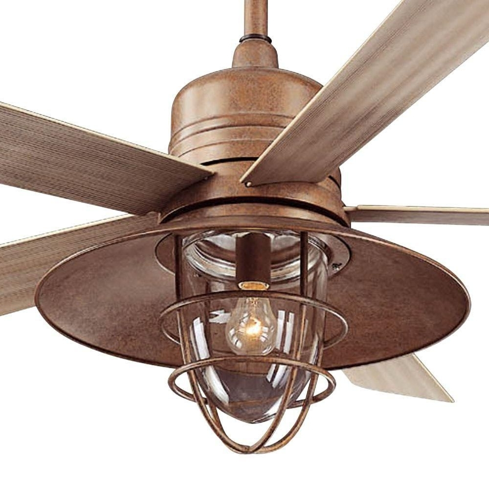 Rustic Outdoor Ceiling Fans Within Well Known Hampton Bay Metro 54 In (View 14 of 20)