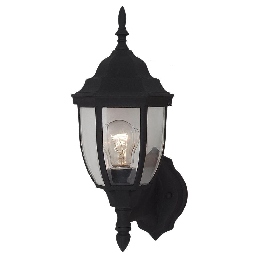 Sea Gull Lighting Bakersville 1 Light Small Black Outdoor Wall With Regard To Most Up To Date Resin Outdoor Lanterns (View 3 of 20)