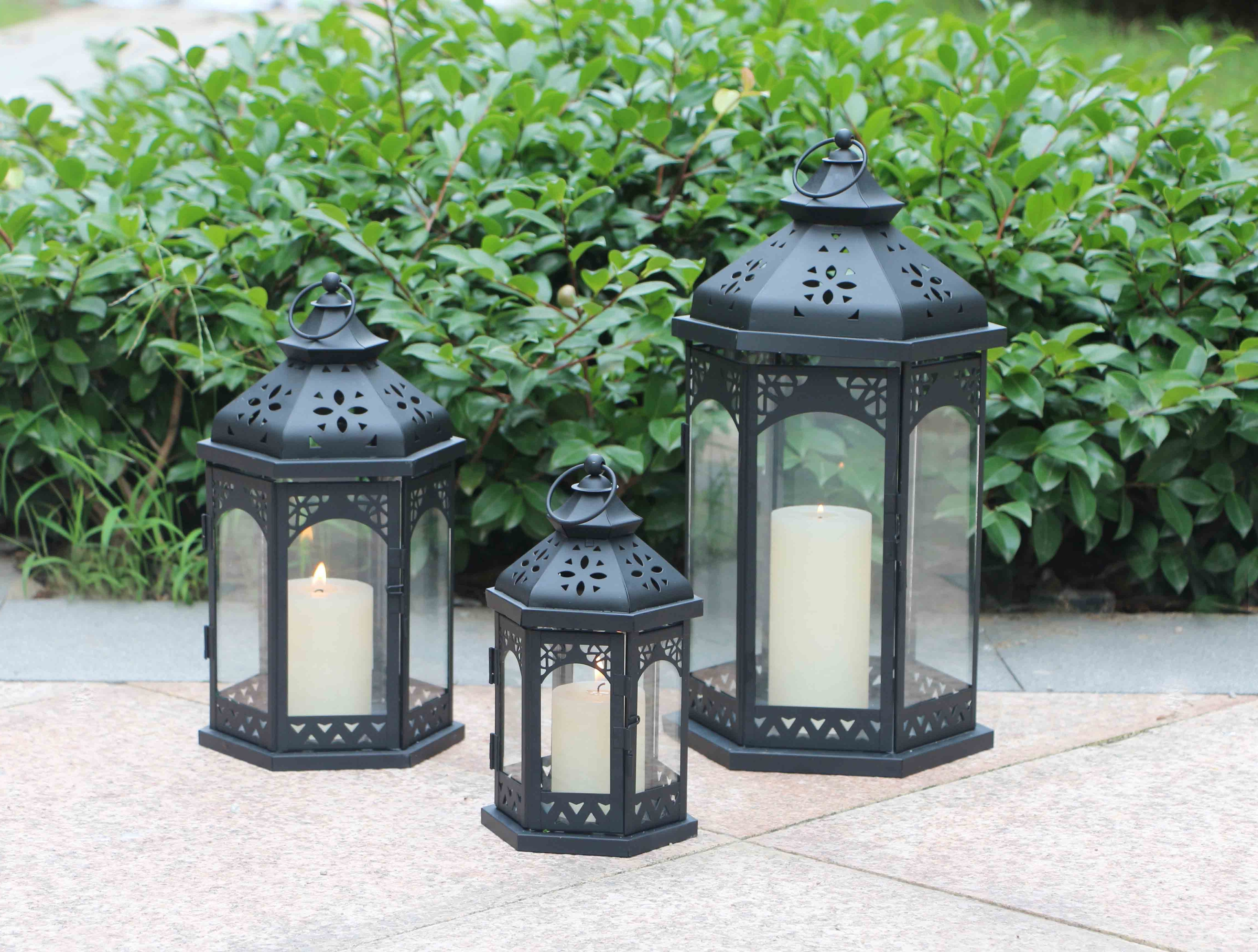 Set Of 3 Outdoor Lanterns For 2018 Product – Ml 967 Set Of 3 Outdoor Decorative Wholesale Moroccan (View 6 of 20)