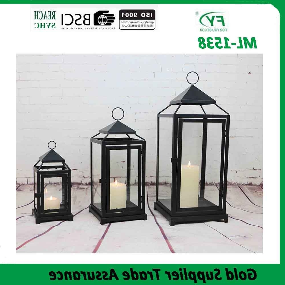 Set Of 3 Outdoor Lanterns Regarding Most Up To Date Chinese Wholesale Set Of 3 Outdoor Garden Decorative Hurricane Metal (Gallery 20 of 20)