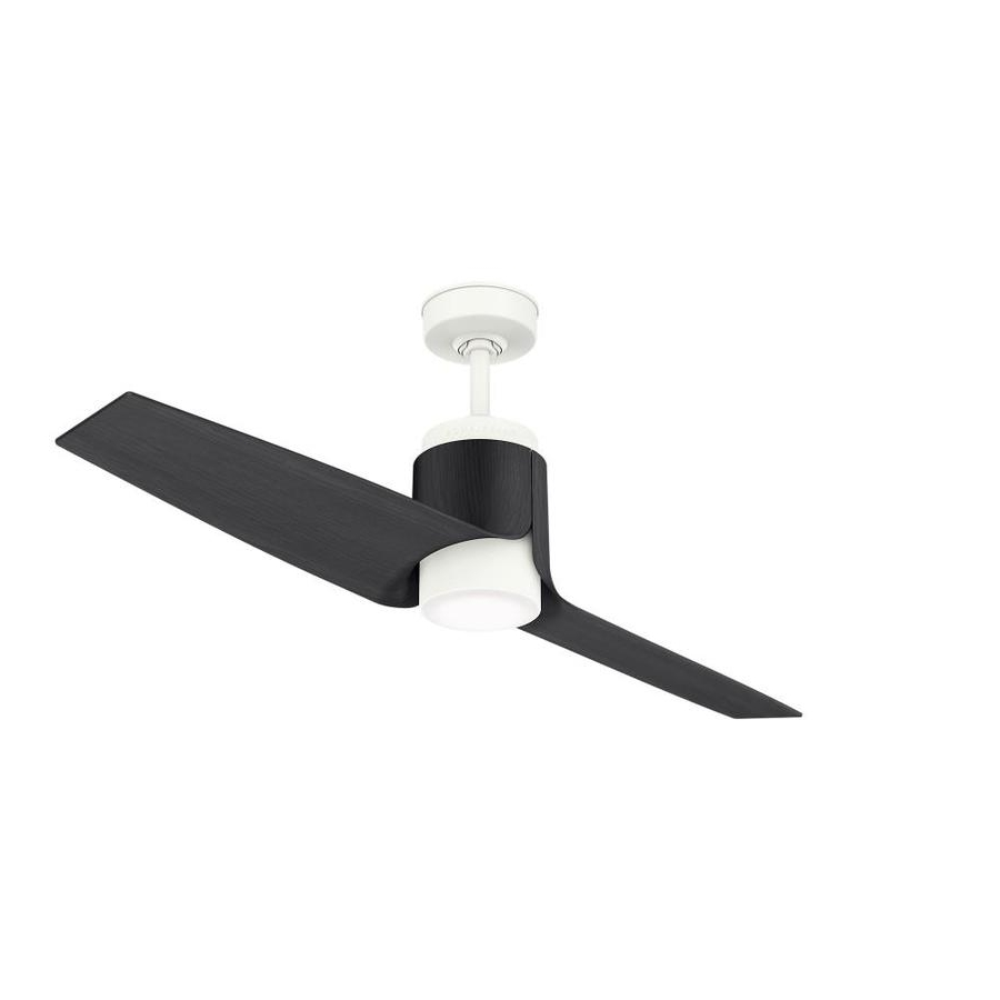 Shop Casablanca Aya Wifi Enabled Dc Motor 54 In Porcelain White Led Intended For Trendy Outdoor Ceiling Fans With Dc Motors (View 14 of 20)