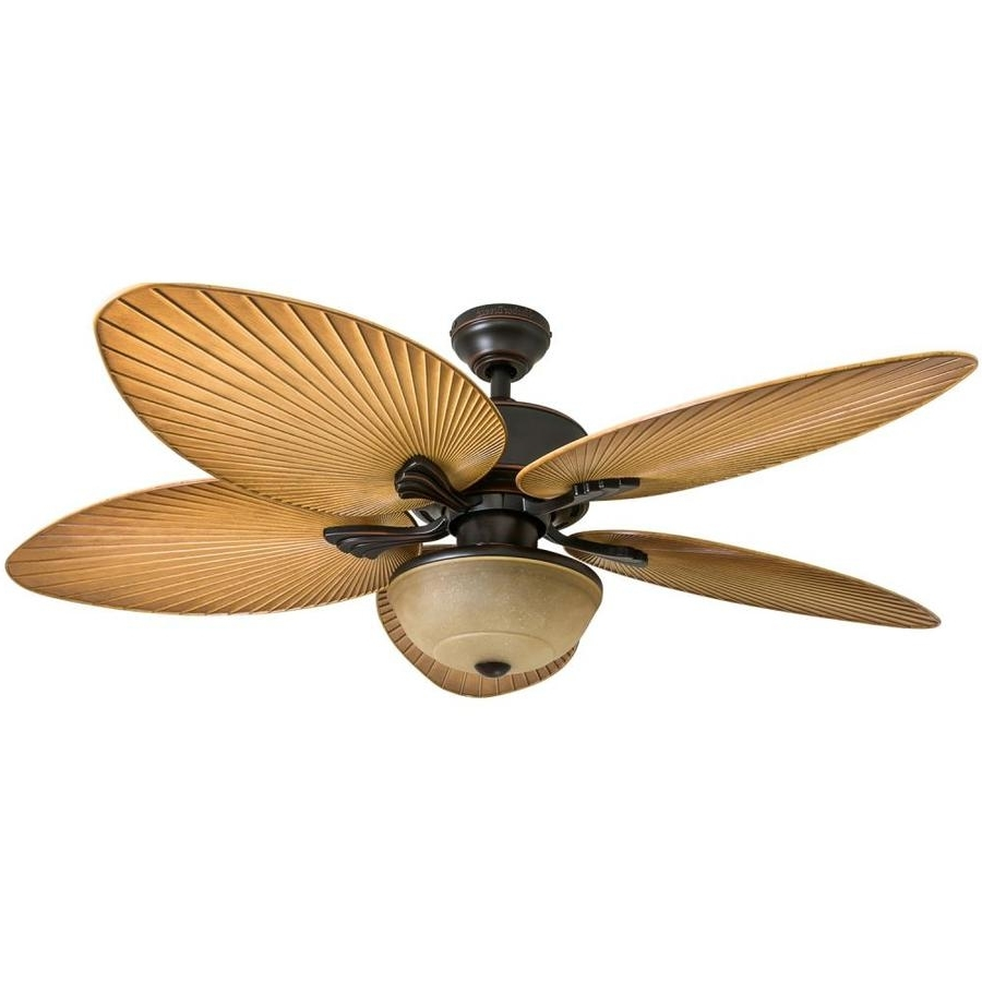 Shop Harbor Breeze Chalmonte 52 In Oil Rubbed Bronze Indoor/outdoor In Most Current Outdoor Ceiling Fans With Cord (View 19 of 20)