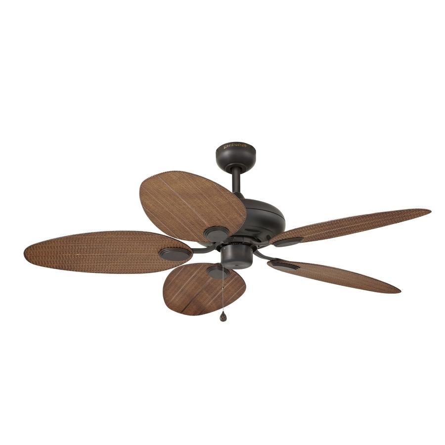 Shop Harbor Breeze Tilghman 52 In Bronze Indoor/outdoor Ceiling Fan Inside Trendy Wicker Outdoor Ceiling Fans With Lights (View 4 of 20)