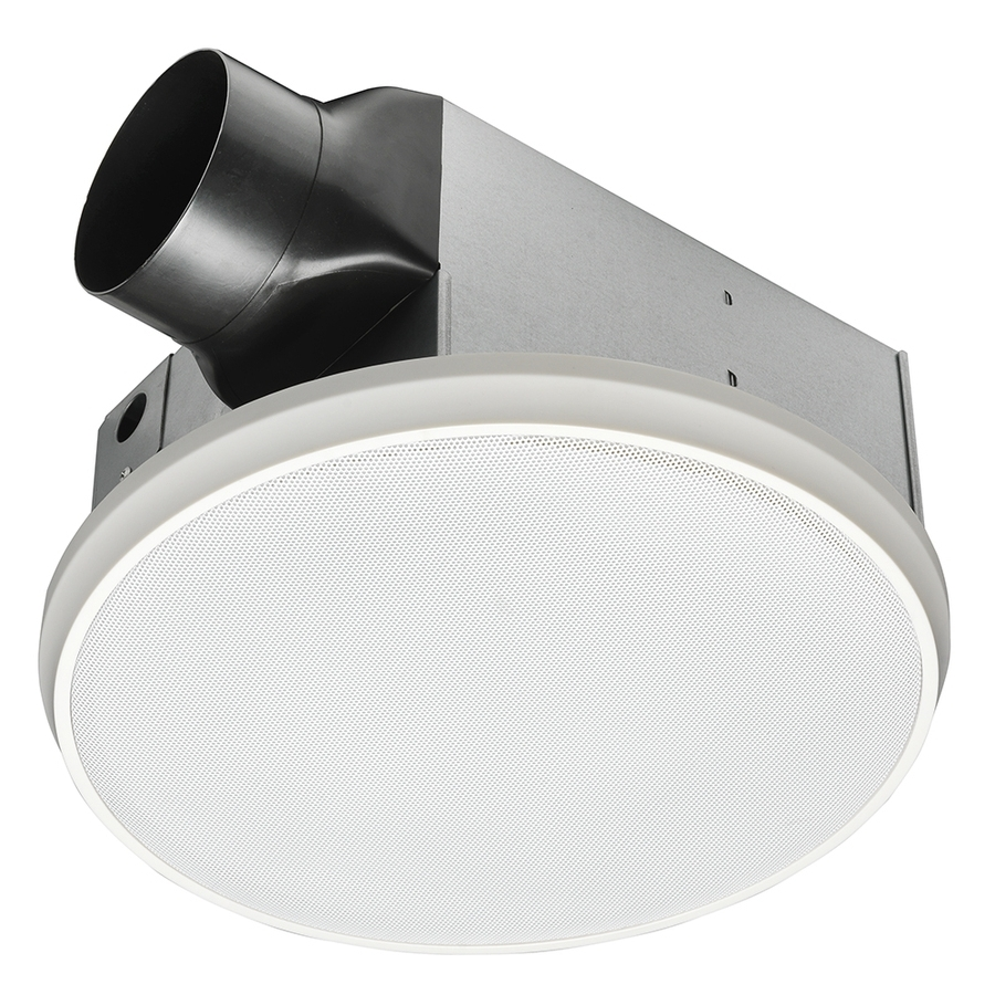 Shop Home Netwerks 1.5 Sone 90 Cfm White Bathroom Fan At Lowes With Regard To Current Outdoor Ceiling Fan With Bluetooth Speaker (Gallery 11 of 20)