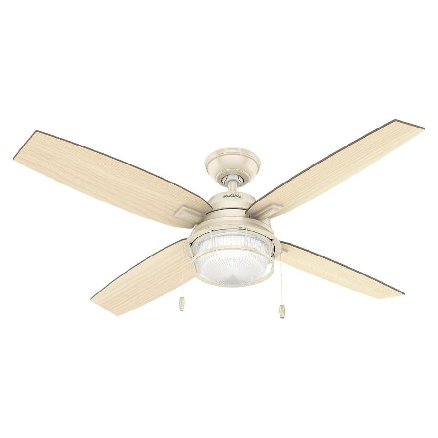 Shop Hunter 52 In Autumn Creme Indoor/outdoor Ceiling Fan With Light In Trendy Hunter Outdoor Ceiling Fans With Lights (Gallery 8 of 20)