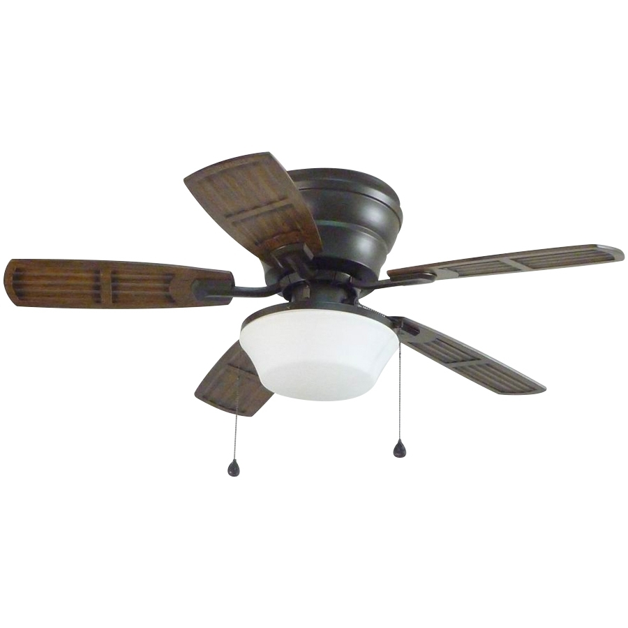 Shop Litex Mooreland 44 In Bronze Flush Mount Indoor/outdoor Ceiling In Fashionable Flush Mount Outdoor Ceiling Fans (View 11 of 20)