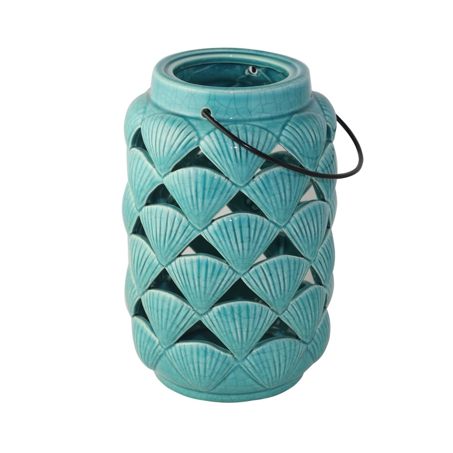 Shop Outdoor Decorative Lanterns At Lowes Within Well Known Blue Outdoor Lanterns (Gallery 19 of 20)