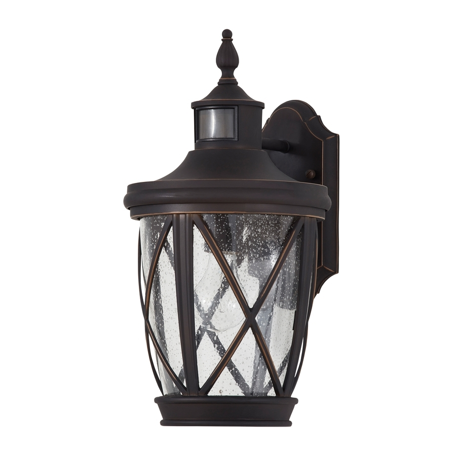 Shop Outdoor Wall Lights At Lowes Regarding Most Recent Outdoor Lanterns With Photocell (View 19 of 20)