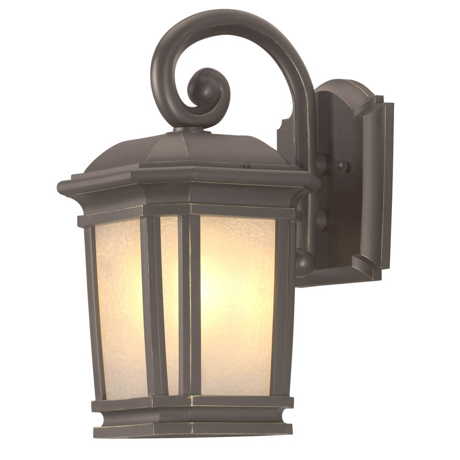 Shop Portfolio Corrigan 13.25 In H Dark Brass Outdoor Wall Light At In Fashionable Outdoor Lanterns At Lowes (Gallery 4 of 20)