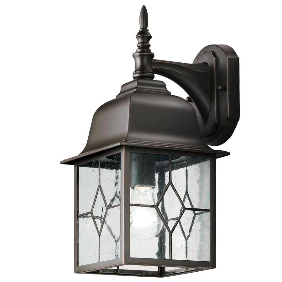 Shop Portfolio Litshire 15.62 In H Oil Rubbed Bronze Outdoor Wall Throughout Fashionable Outdoor Oil Lanterns (Gallery 20 of 20)