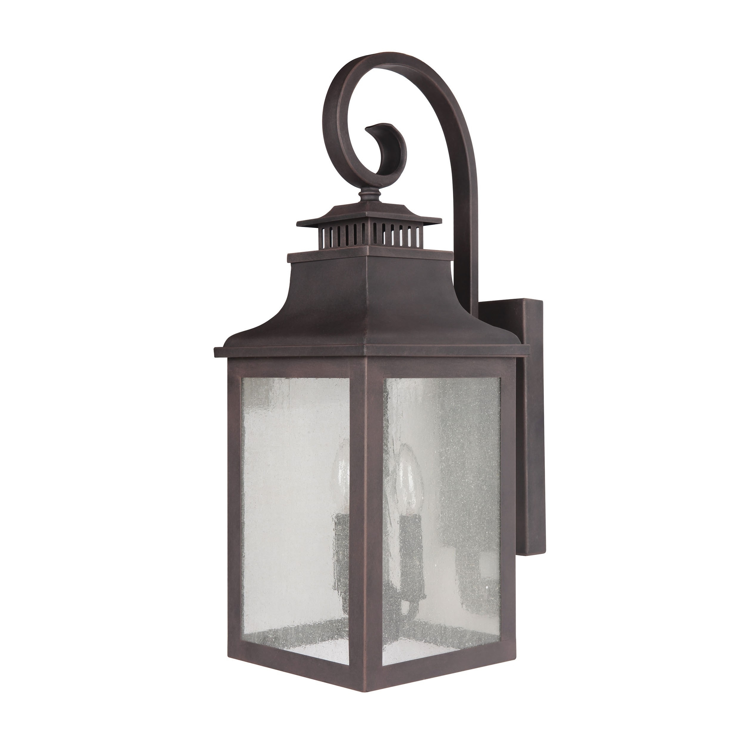 Shop Y Decor Morgan 2 Light Exterior Light In Rustic Bronze – Free In Well Liked Rustic Outdoor Electric Lanterns (View 17 of 20)