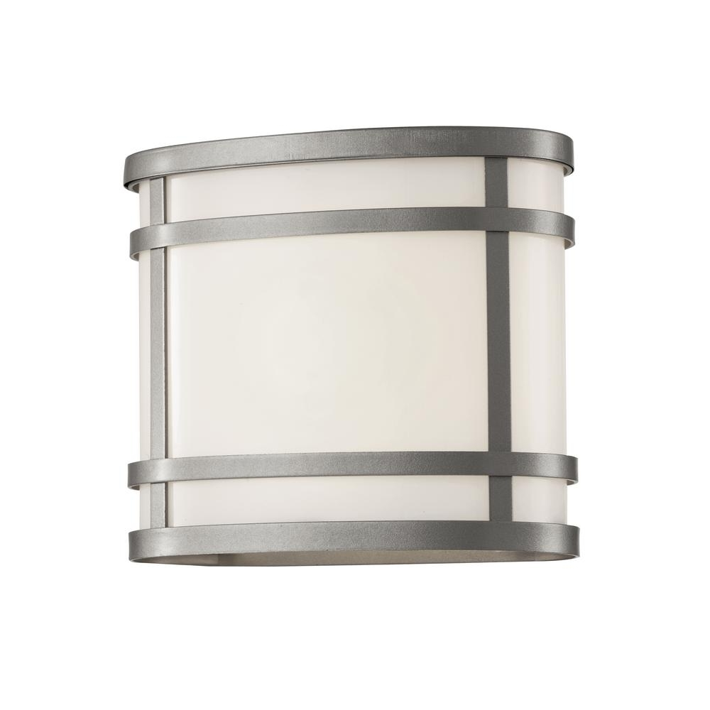 Silver Outdoor Lanterns Pertaining To Well Liked Bel Air Lighting 1 Light Silver Outdoor Wall Lantern With Frosted (Gallery 15 of 20)