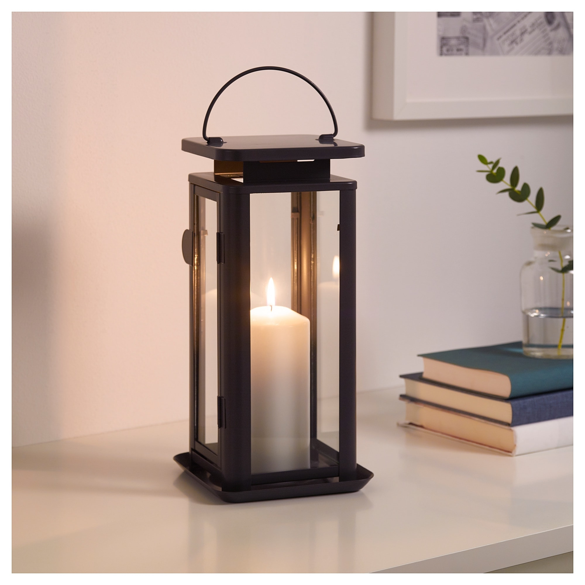 Sinnesro Lantern F Block Candle, In/outdoor Grey 29 Cm – Ikea With Regard To Most Up To Date Outdoor Grey Lanterns (View 17 of 20)