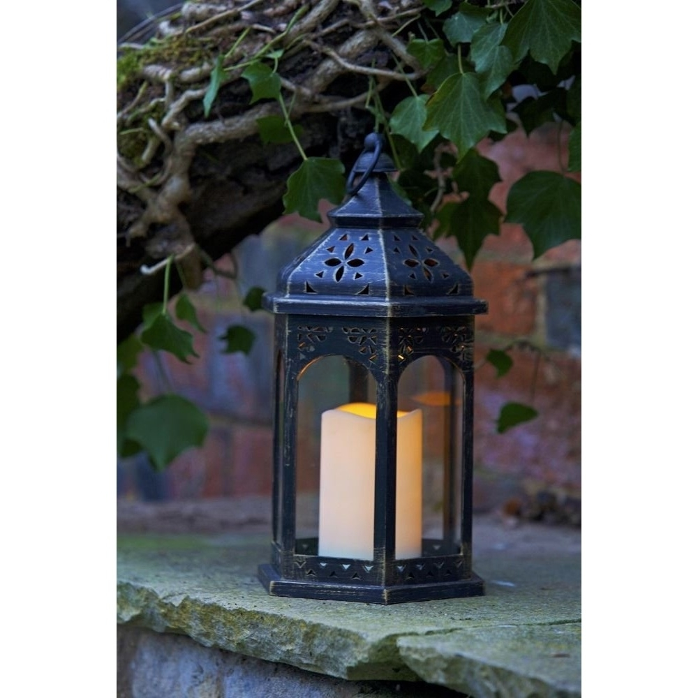 Smart Garden Electric Moroccan Lantern Regarding Most Recent Moroccan Outdoor Electric Lanterns (View 18 of 20)