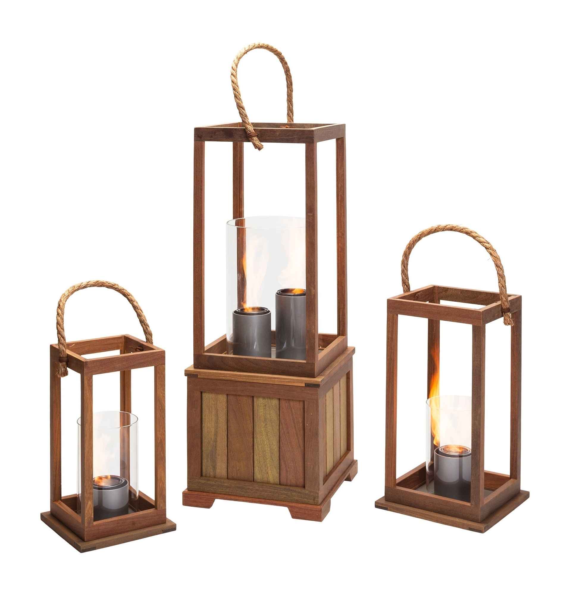 Sonoma 17 Inch Outdoor Lantern In Ipe Woodnorthcape Fire With 2019 Outdoor Gel Lanterns (View 5 of 20)