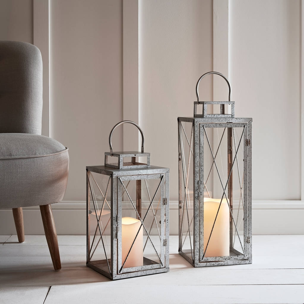 St Austell Outdoor Battery Candle Lantern Setlights4Fun Regarding Best And Newest Outdoor Lanterns With Battery Candles (Gallery 15 of 20)