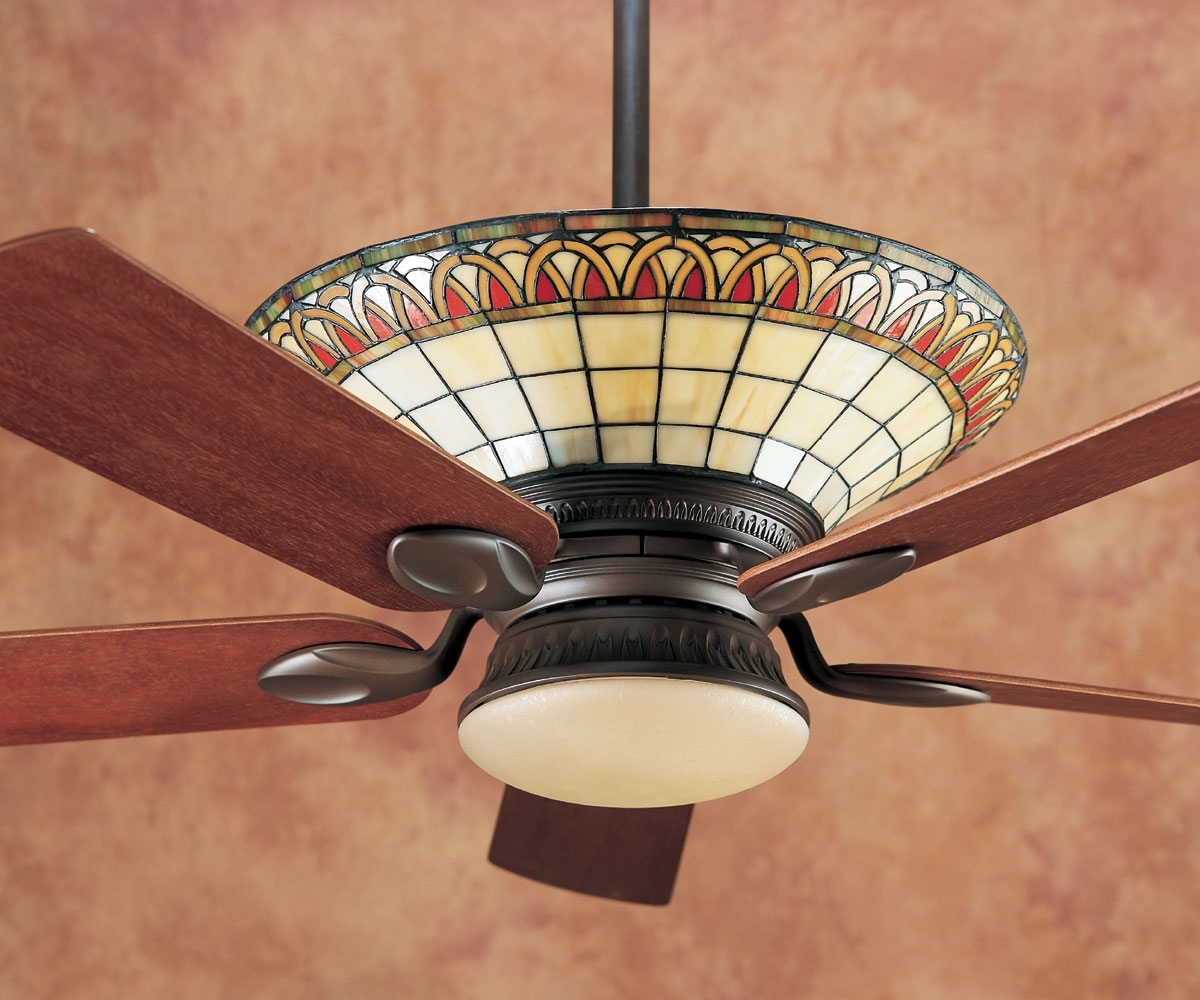 Stained Glass Apple Ceiling Fan : Home Design – Stained Glass Within Well Liked Mission Style Outdoor Ceiling Fans With Lights (View 11 of 20)