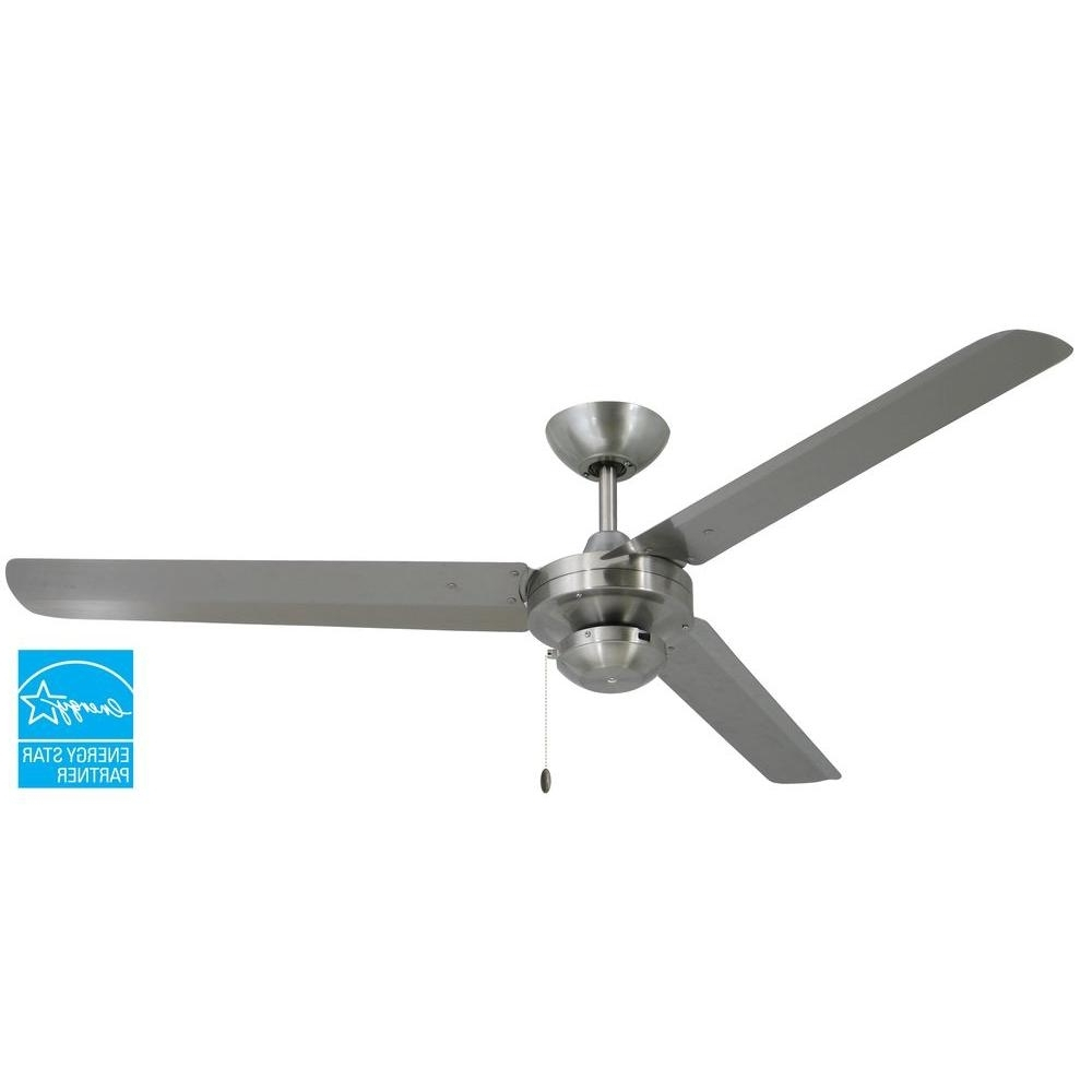 Stainless Steel Outdoor Ceiling Fans With Light Pertaining To Fashionable Troposair Tornado 56 In (View 19 of 20)