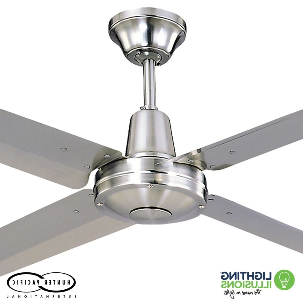 "Sunshine Coast Outdoor Ceiling Fans For Fashionable 48"" – 1220mm Typhoon Mach 2 316 Marine Grade Stainless Steel Ceiling (View 8 of 20)"