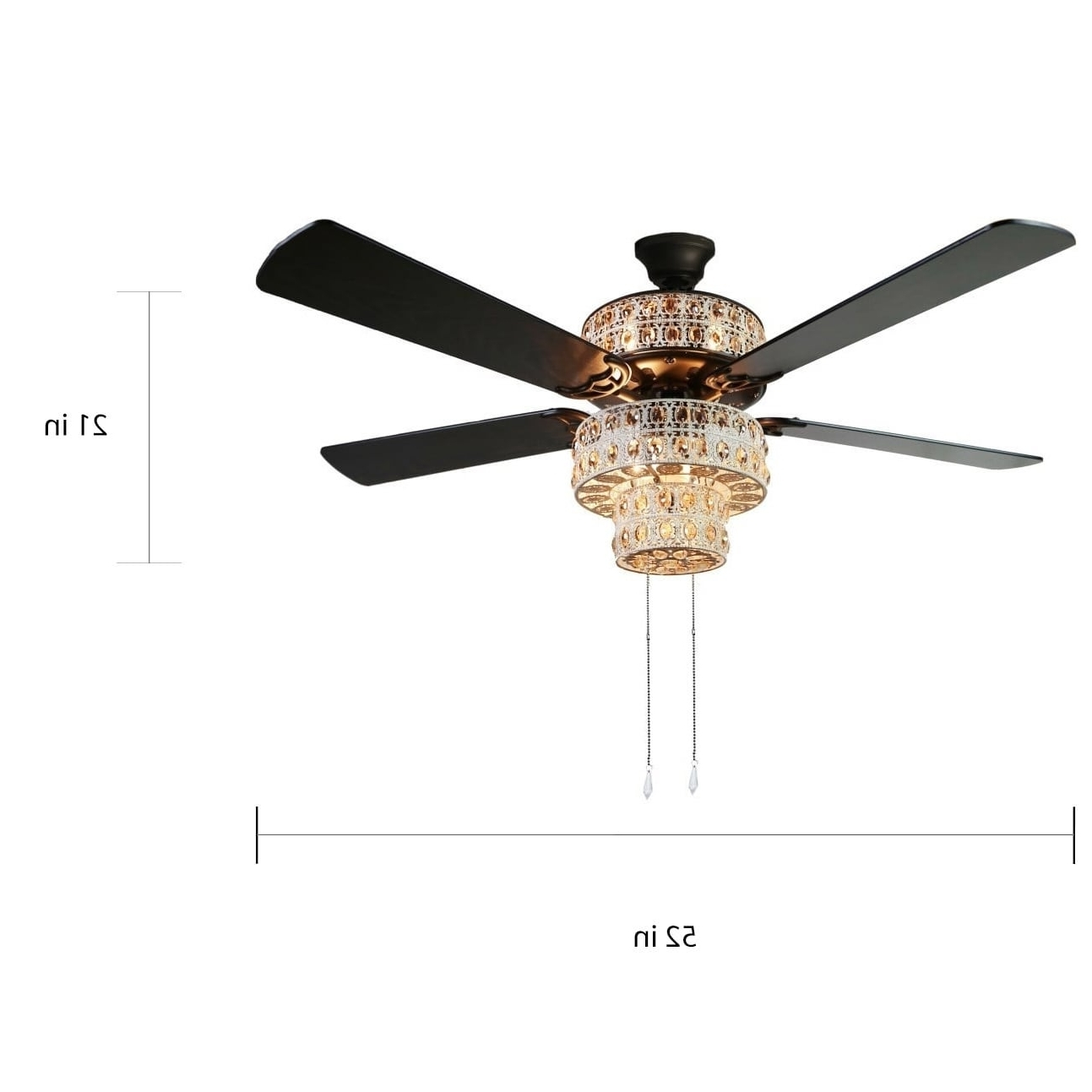 Sunshine Coast Outdoor Ceiling Fans Throughout Most Up To Date Shop Antique White And Champagne Crystal Ceiling Fan – On Sale (View 16 of 20)