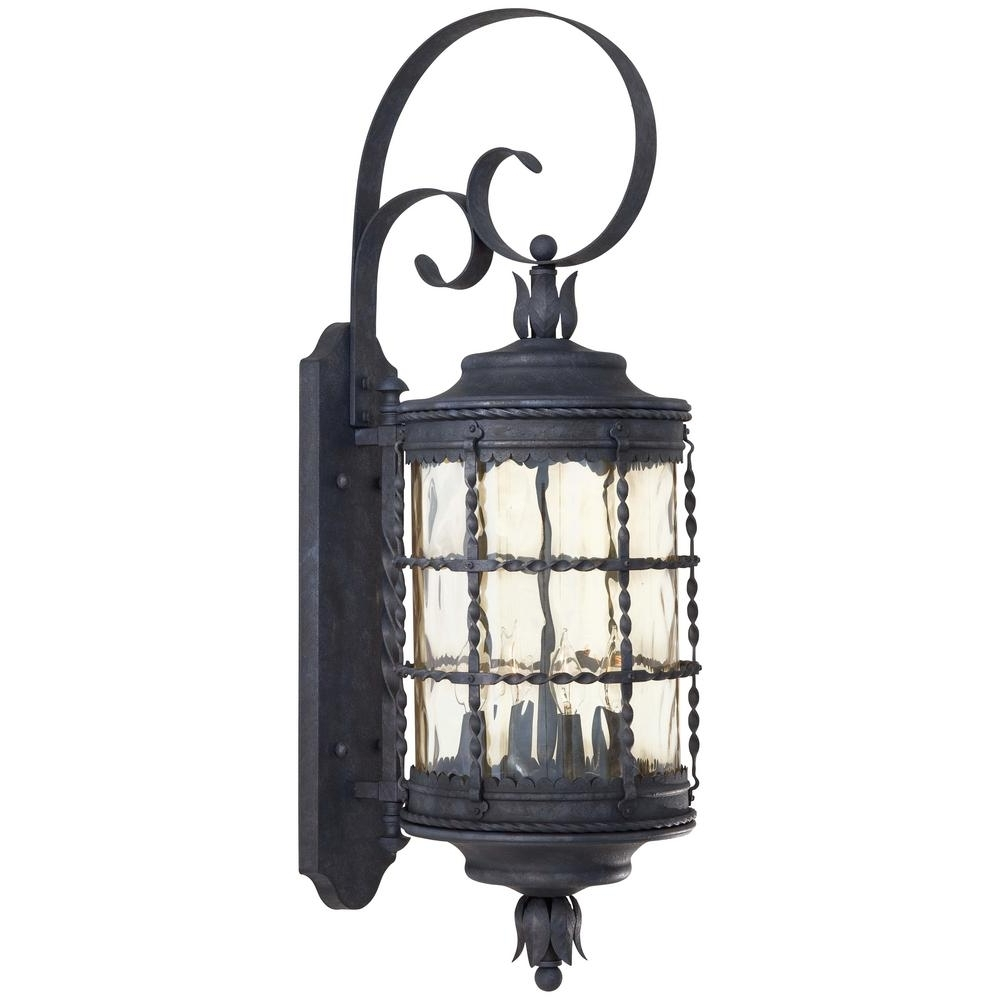 The Great Outdoors Minka Lavery Mallorca Light Spanish Iron Outdoor With Regard To Newest Outdoor Iron Lanterns (View 17 of 20)