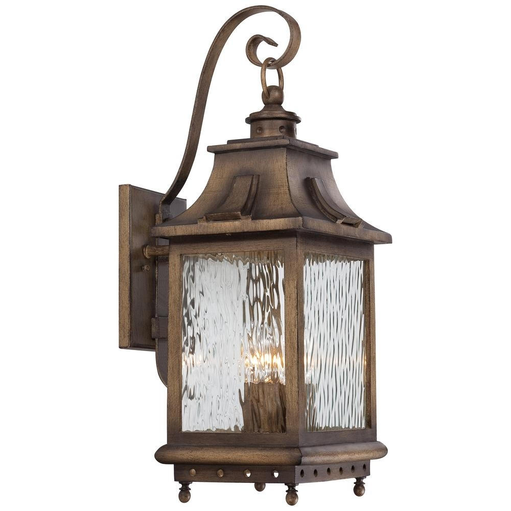 The Great Outdoorsminka Lavery Wilshire Park 4 Light Portsmouth Inside Most Up To Date Set Of 3 Outdoor Lanterns (View 11 of 20)