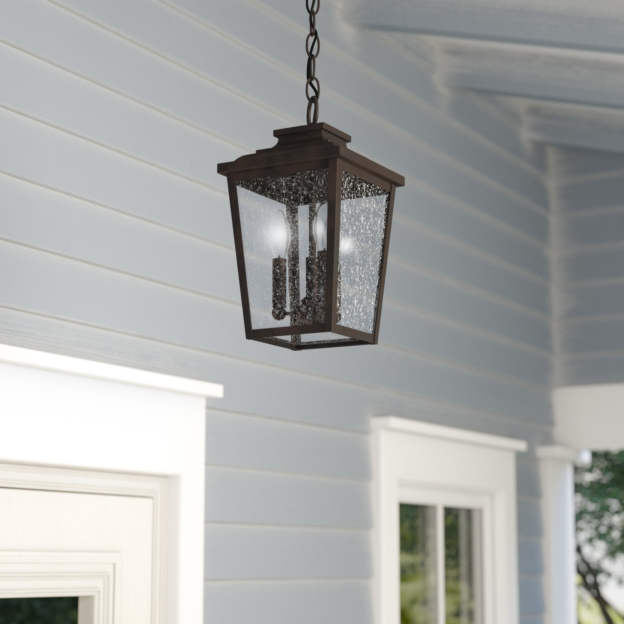 Three Posts Mayhugh 3 Light Outdoor Hanging Lantern & Reviews (View 3 of 20)