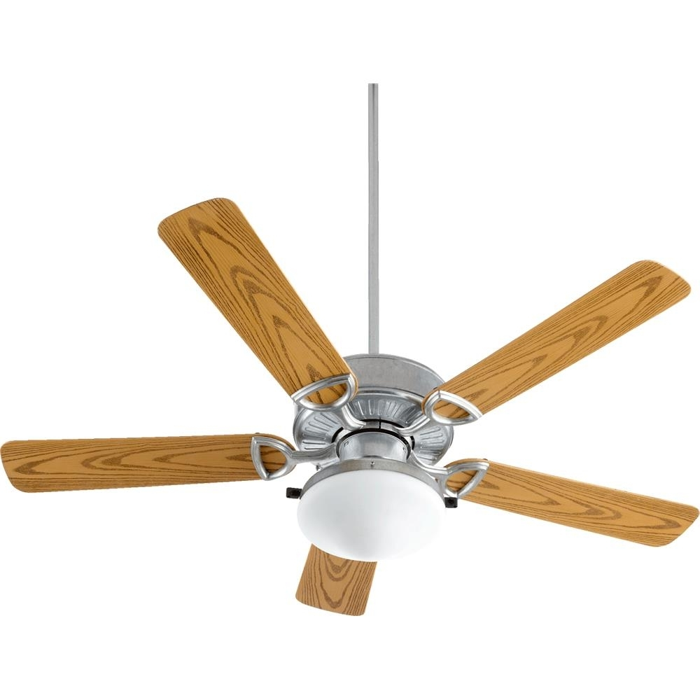 Trendy 143525 909 – Quorum International 143525 909 Estate Patio Estate 5 Inside Outdoor Ceiling Fans With Galvanized Blades (Gallery 17 of 20)