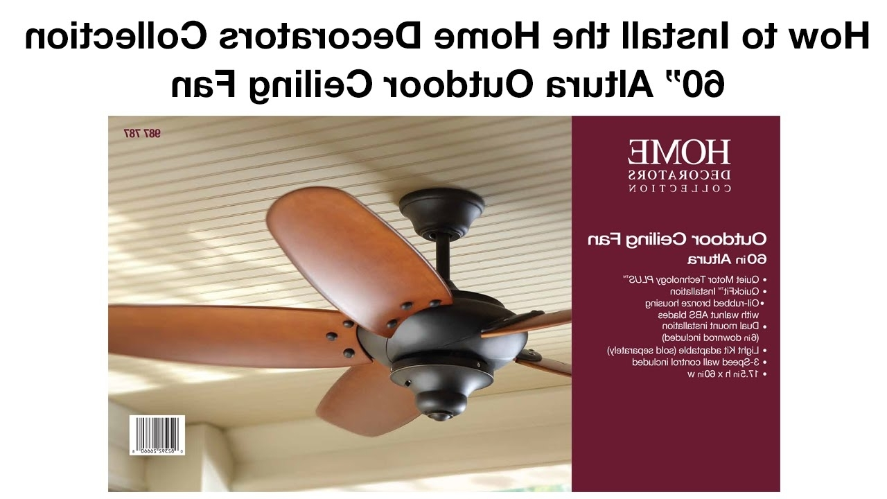 Trendy 48 Outdoor Ceiling Fans With Light Kit Throughout How To Install The 60 In (View 17 of 20)