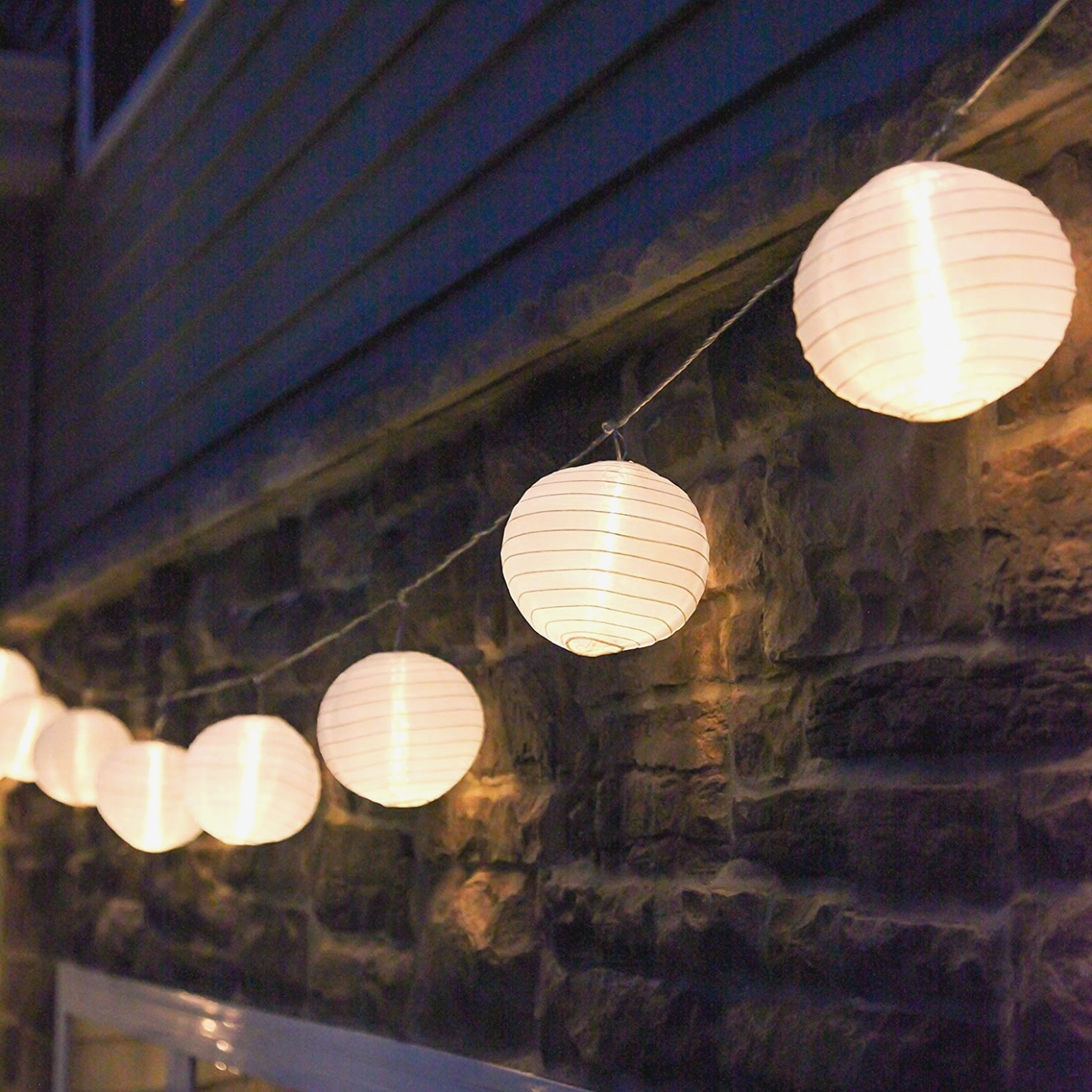 Trendy Amazon: 40 Ft. White Outdoor String Light, 40 Mini Lanterns, 40 With Regard To Outdoor Chinese Lanterns For Patio (Gallery 18 of 20)