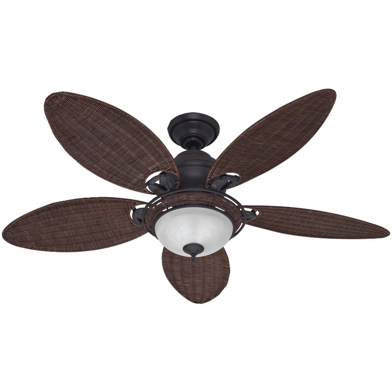 Trendy Amazon: Hunter Fan Company 54095 Caribbean Breeze 54 Inch Inside Wicker Outdoor Ceiling Fans (View 4 of 20)