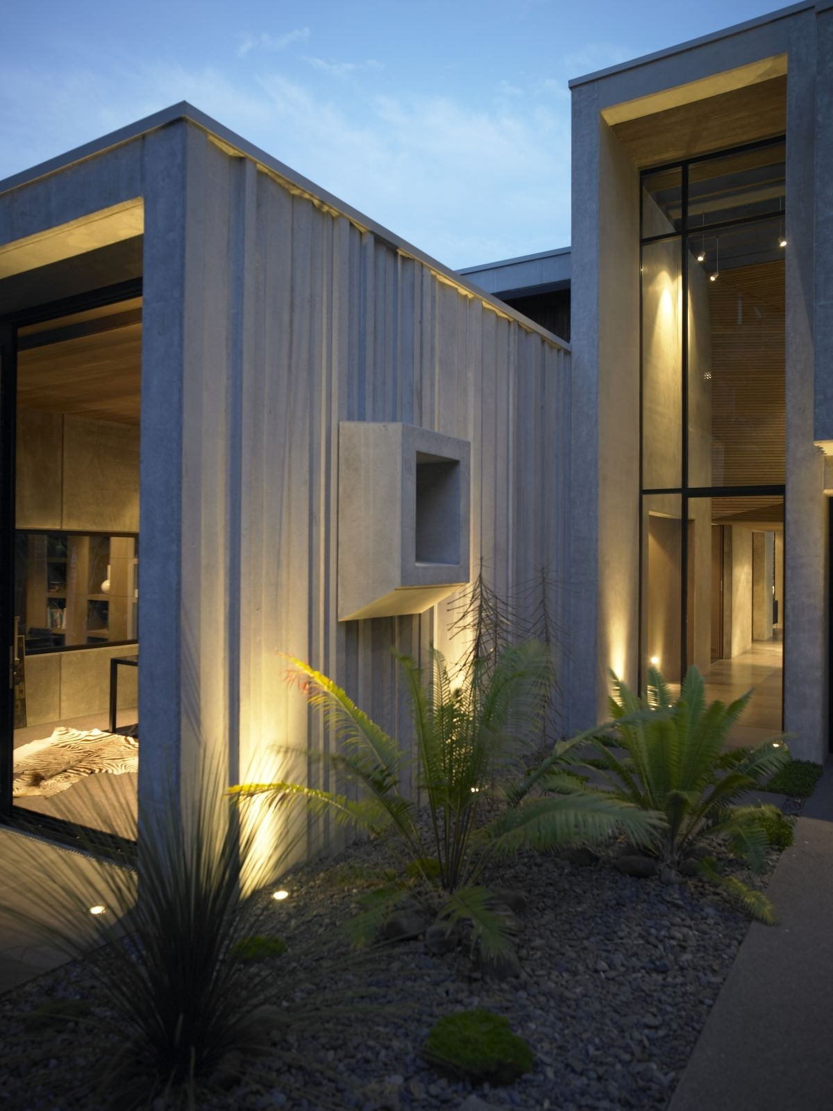 Trendy Flat Roofing House Design Feat Modern Outdoor Wall Lighting Idea And Within Outdoor Lanterns For House (View 19 of 20)
