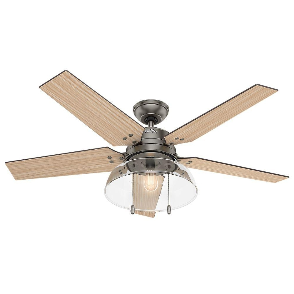 Trendy Gold Coast Outdoor Ceiling Fans With Regard To Hunter Lindbeck 52 In (View 18 of 20)