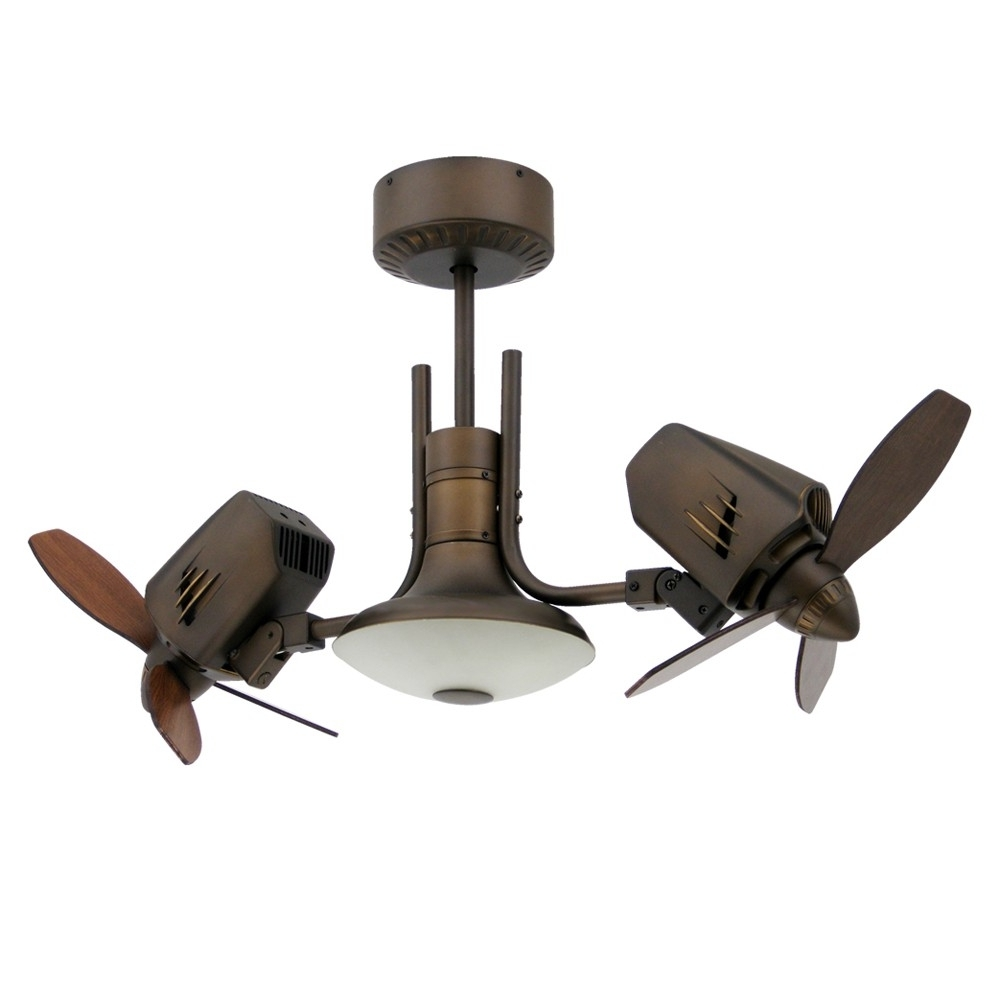 Trendy High End Outdoor Ceiling Fans Intended For Mustang Ii Dual Oscillating Ceiling Fan (View 17 of 20)