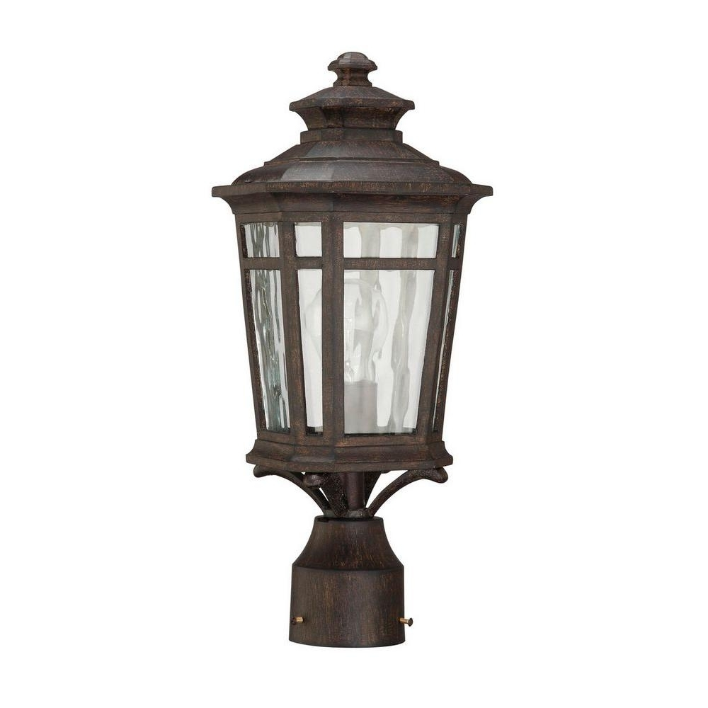 Trendy Home Decorators Collection Waterton 1 Light Outdoor Dark Ridge For Outdoor Post Lanterns (View 17 of 20)