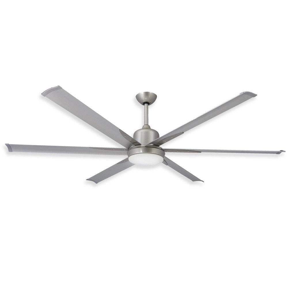 Trendy Industrial Looking Outdoor Ceiling Fan (View 4 of 20)