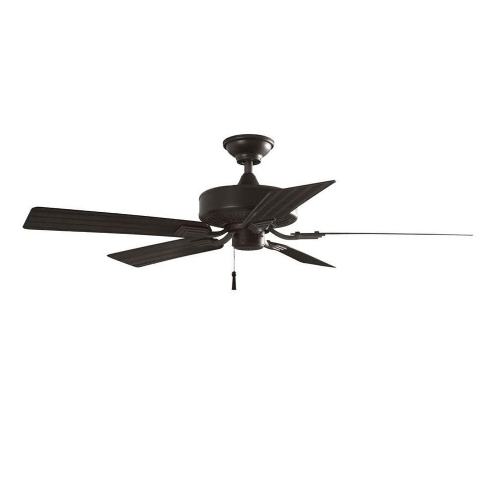 Trendy Outdoor Ceiling Fans Under $150 Throughout Flush Mount – Outdoor – Ceiling Fans – Lighting – The Home Depot (View 9 of 20)