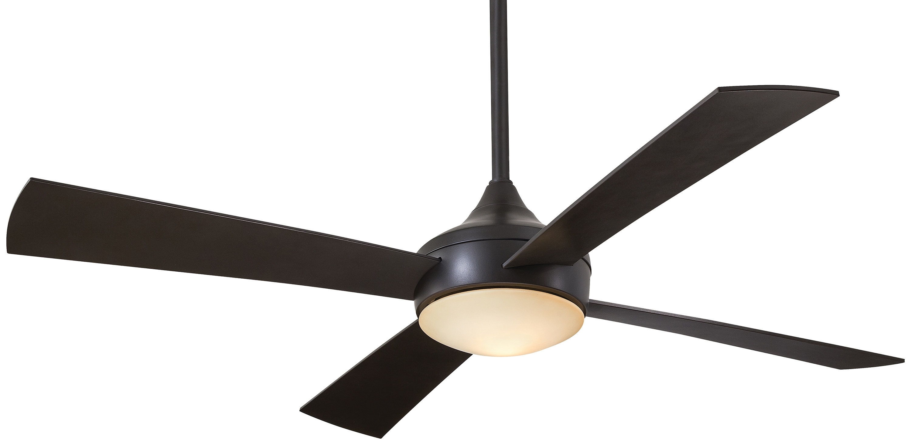 "Trendy Outdoor Ceiling Fans With Remote Regarding Minka Aire 52"" Aluma Wet 4 Blade Outdoor Led Ceiling Fan With Remote (Gallery 10 of 20)"