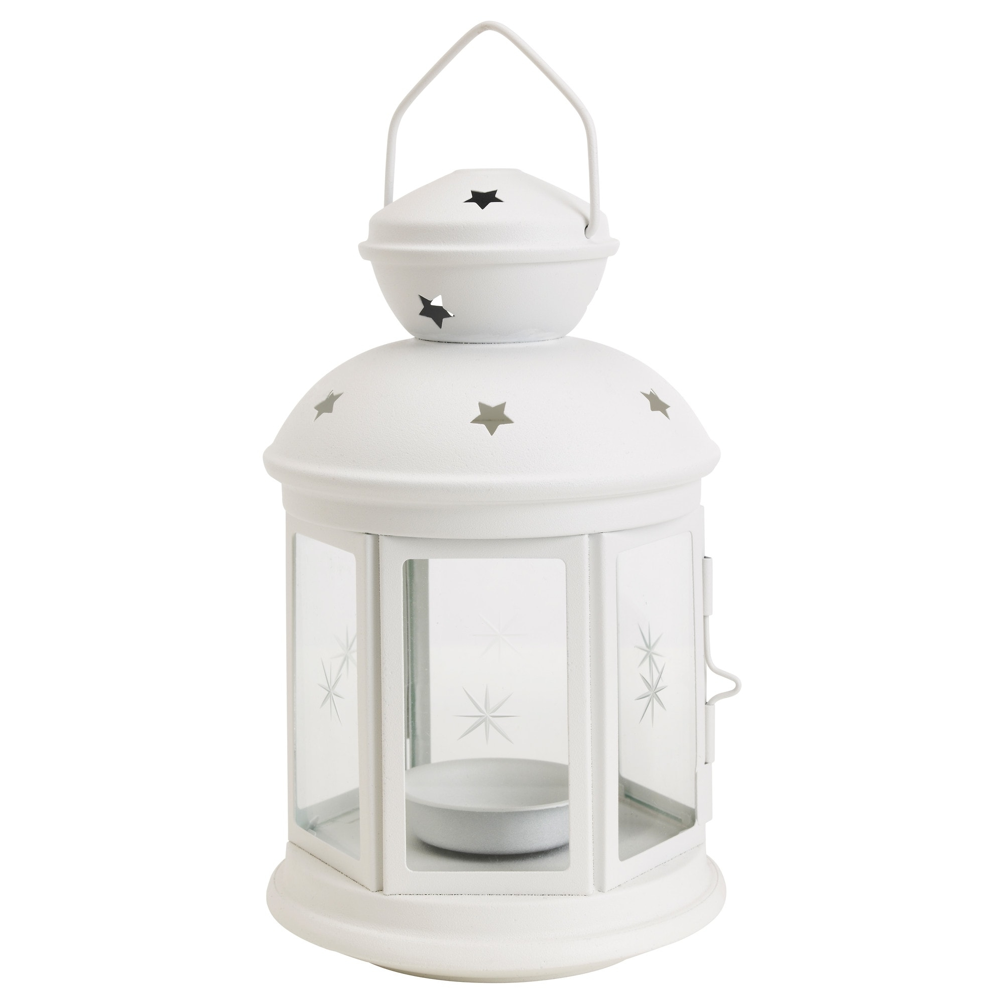 Trendy Outdoor Grey Lanterns Pertaining To Rotera Lantern For Tealight In/outdoor White 21 Cm – Ikea (View 15 of 20)