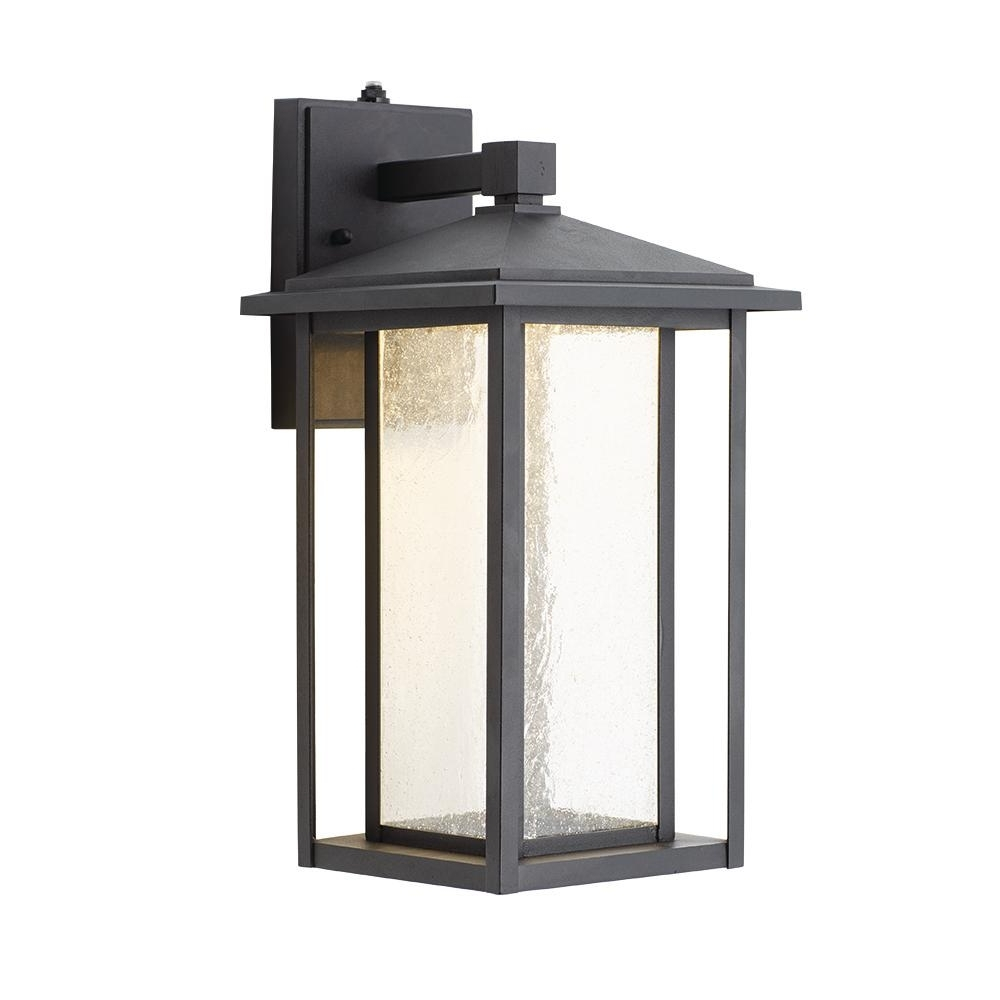 Trendy Outdoor Lanterns For Home Decorators Collection Black Outdoor Seeded Glass Dusk To Dawn (View 6 of 20)