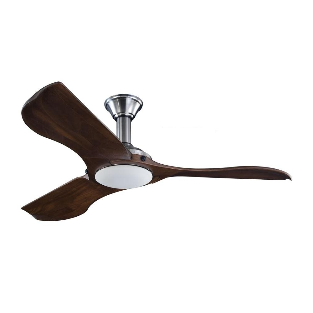 Trendy Stainless Steel Outdoor Ceiling Fans Regarding Monte Carlo Minimalist 56 In (View 19 of 20)