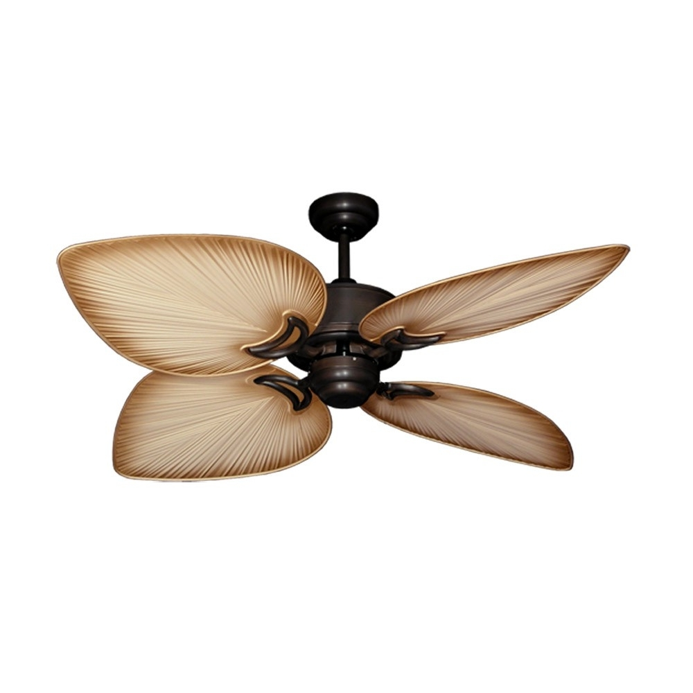 Trendy Tropical Design Outdoor Ceiling Fans Within Tropical Ceiling Fans With Palm Leaf Blades, Bamboo, Rattan And More (View 13 of 20)