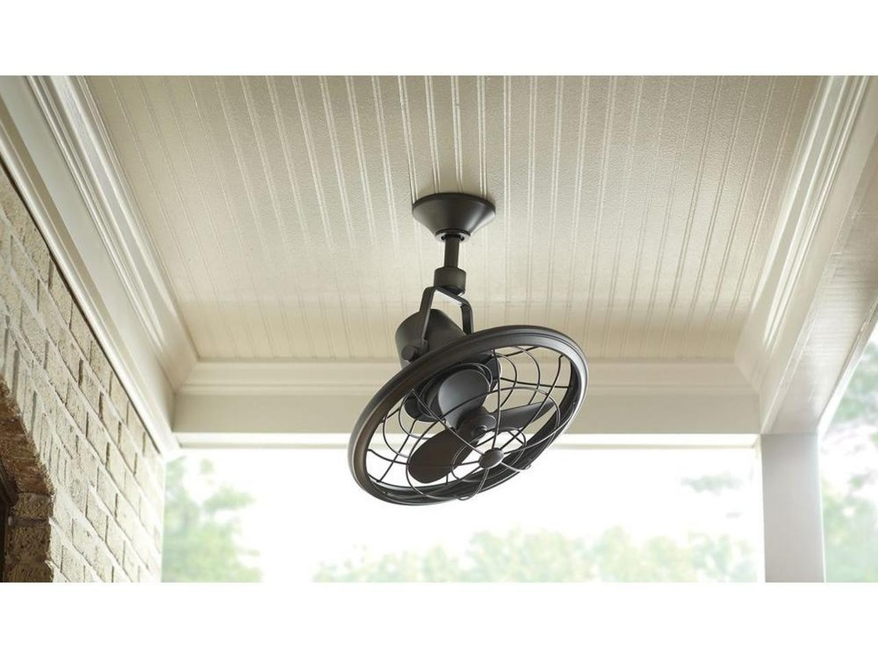 Trendy Vintage Look Outdoor Ceiling Fans For White Porch Ceiling With Oscillating Ceiling Fan A Vintage Style (Gallery 13 of 20)
