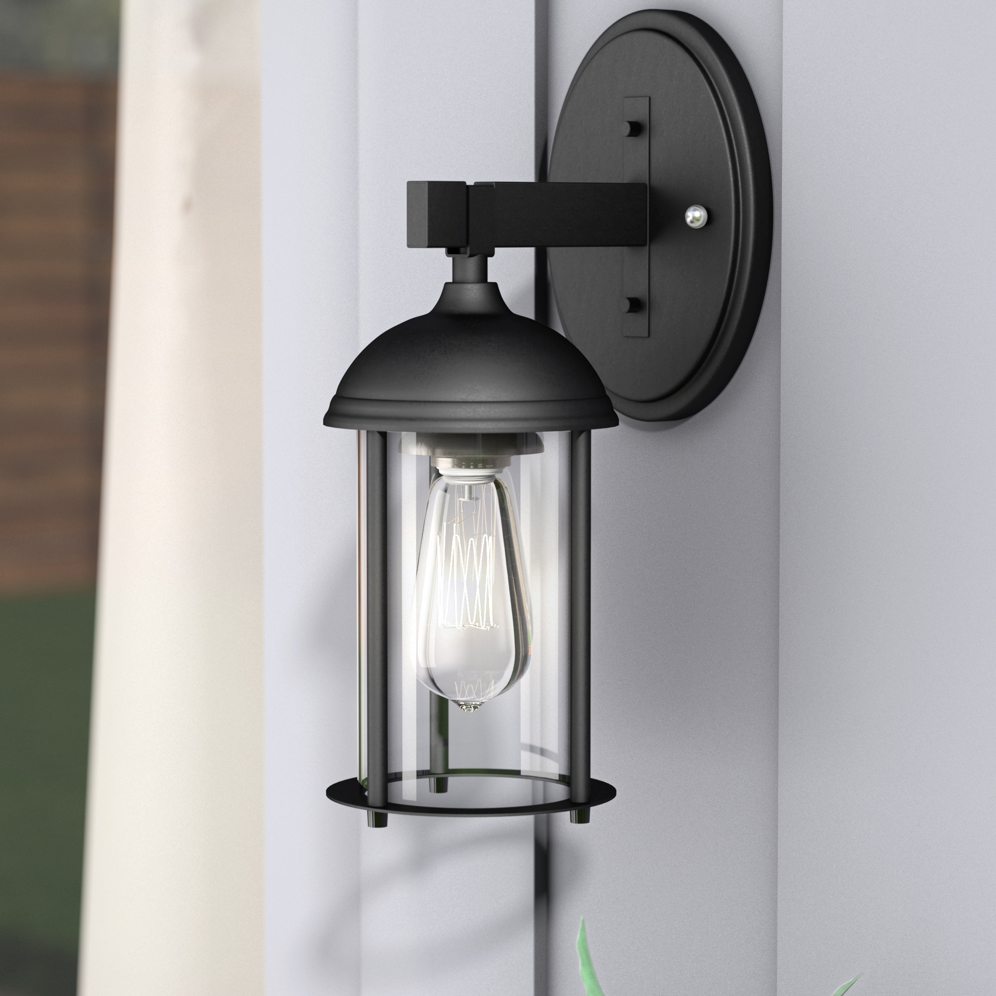 Trent Austin Design Marshall 1 Light Outdoor Wall Lantern & Reviews Pertaining To Preferred Outdoor Wall Lanterns (View 16 of 20)